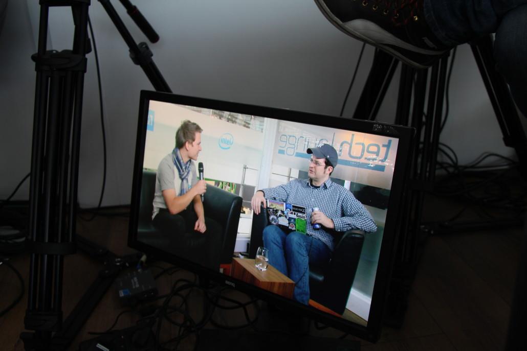 Live on screen! Sascha Pallenberg mit Lampuga-Gründer Marc Hammerla