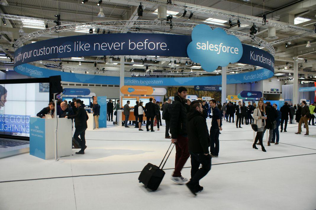 Halle 23 war fest in den Händen von Salesforce