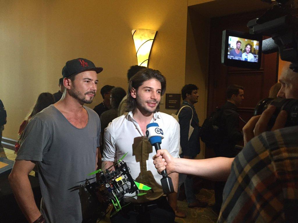 Rico Sascha und Nicolas Chibac sind begehrt als Interviewpartner