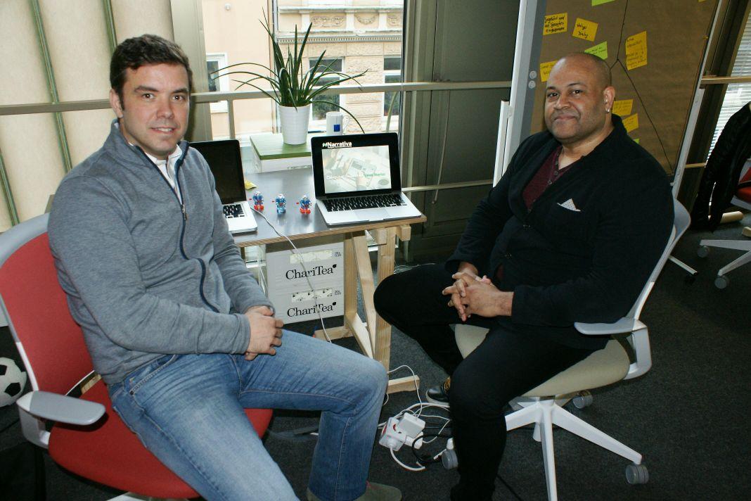 David Llorente und Guy Hood von Narrativa