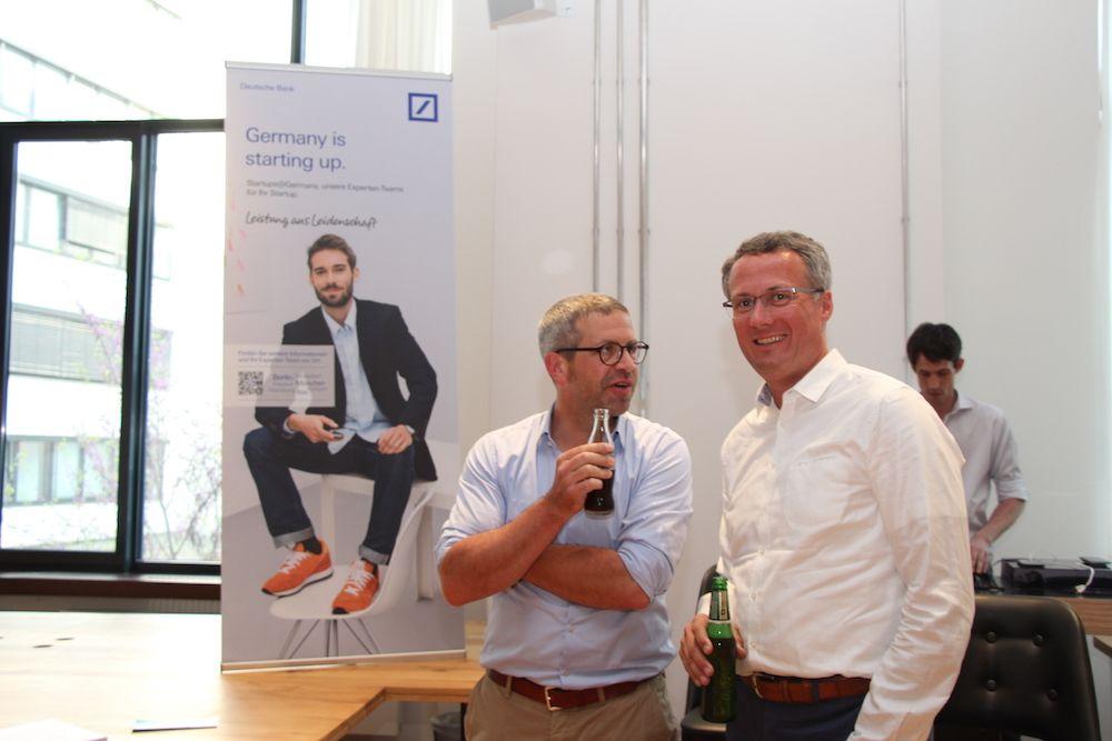 André M. Bajorat von figo und Andreas Kramer von der Deutschen Bank