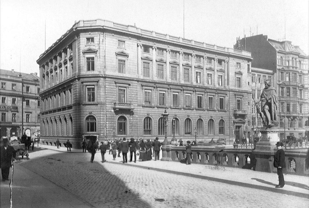 Das Stammhaus der Commerzbank in Hamburg, um 1885 (Foto: Commerzbank AG)