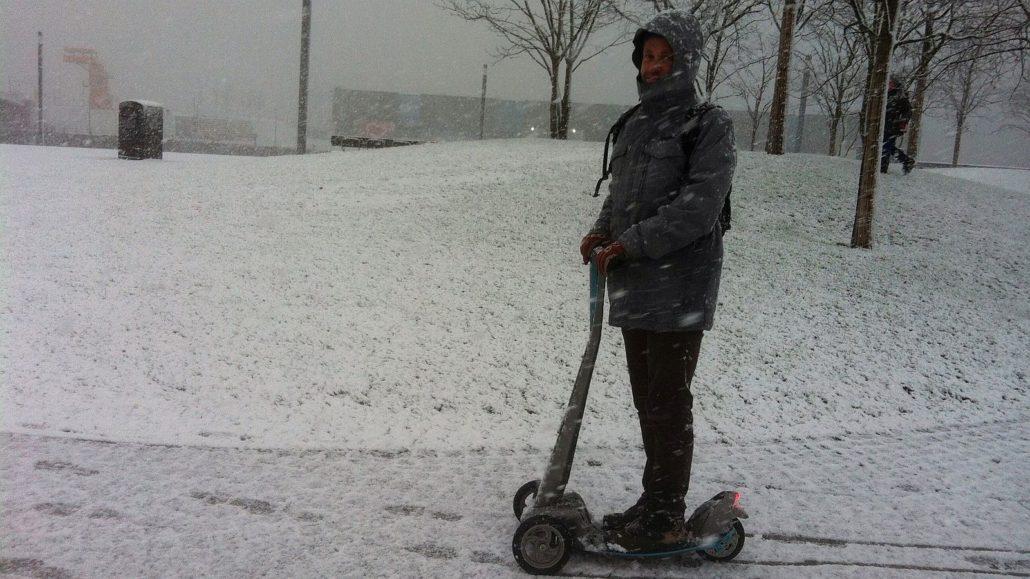 Auch bei Eis und Schnee ist der efloater einsatzbereit.