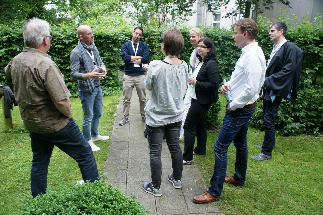 Auch im Garten der Villa 23 gab es inspirierende Diskussionsrunden
