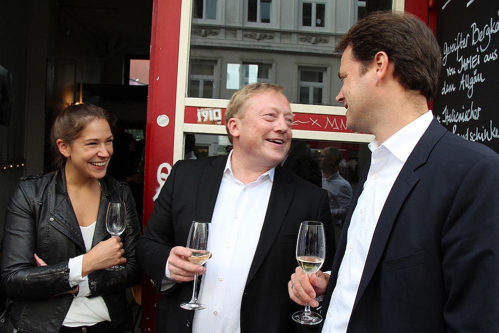 Freya Oehle (Spottster), Andreas Fischer-Appelt (fischerAppelt AG) und Tim Sievers (Zinspilot)