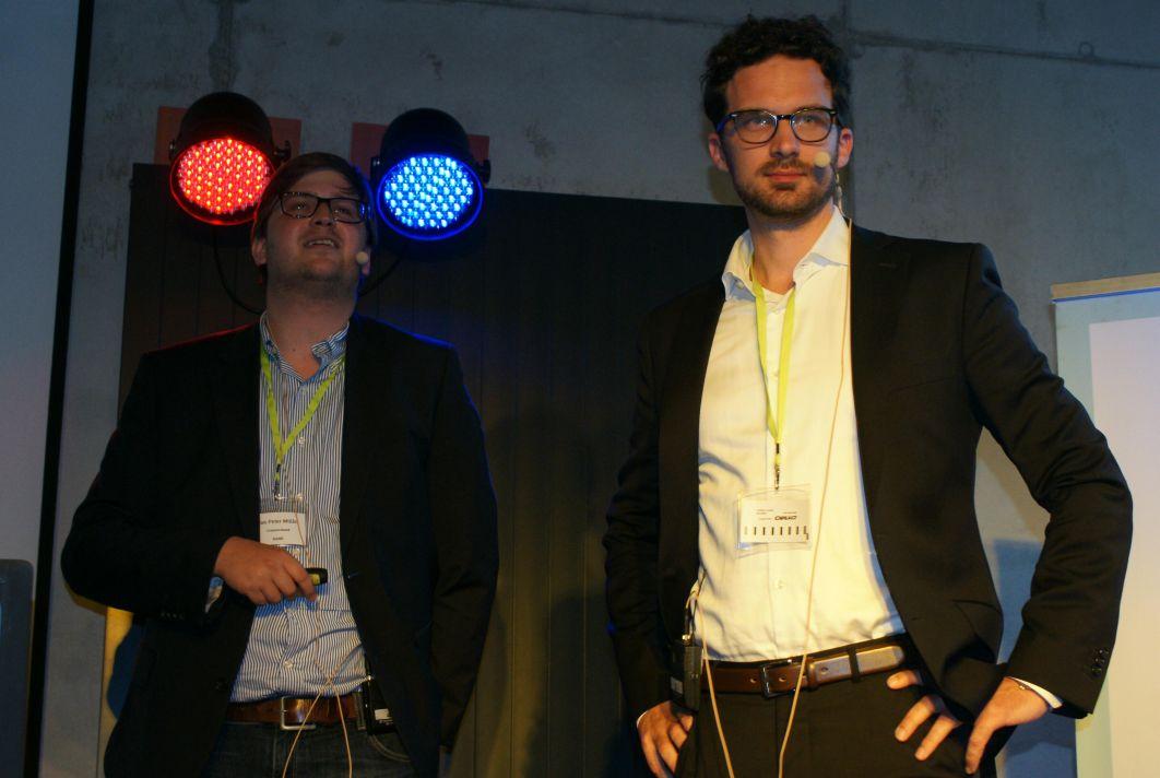 Jan-Peter Müller und Jonas Sowa von der Commerzbank