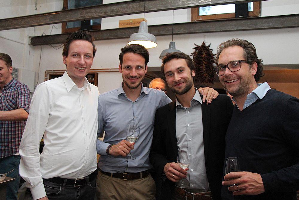 Hatten Spaß: Robert Heinecke (Breeze), Aaron Keilhau (Firal), Peter Sorowka(Cybus) und Teja Töpfer (Facelift)