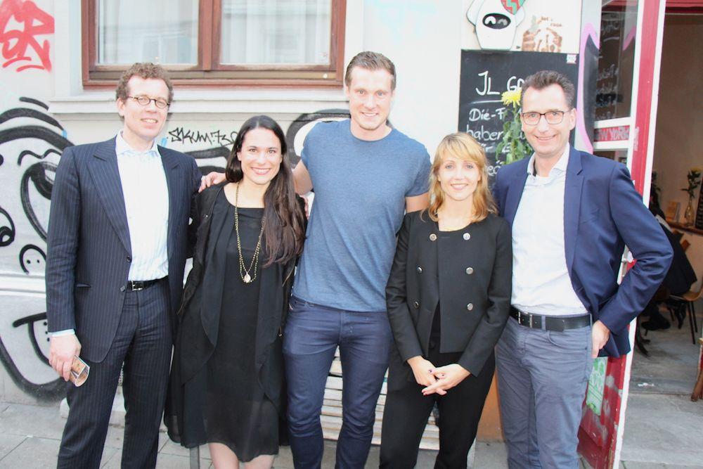 Dr. Cornel Wisskirchen, Sanja Stankovic, Marcell Jansen, Sina Gritzuhn und Niklas Wilke