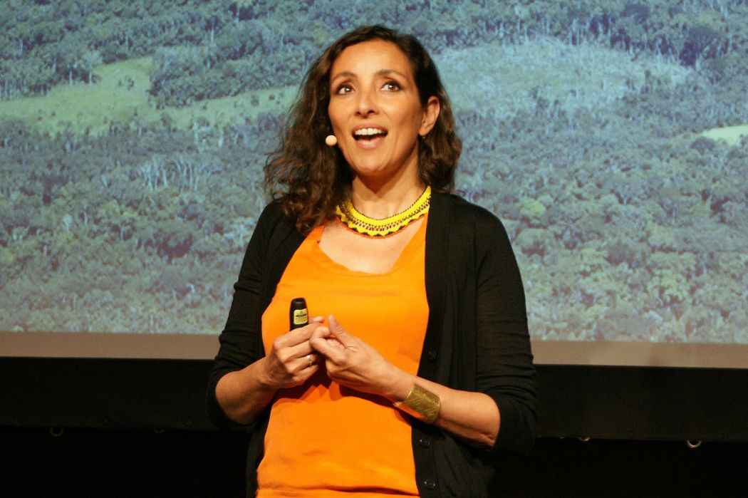 Stellvertretend für die Sparte Kunst: Naziha Mestaoui, Gründerin von Act with Art