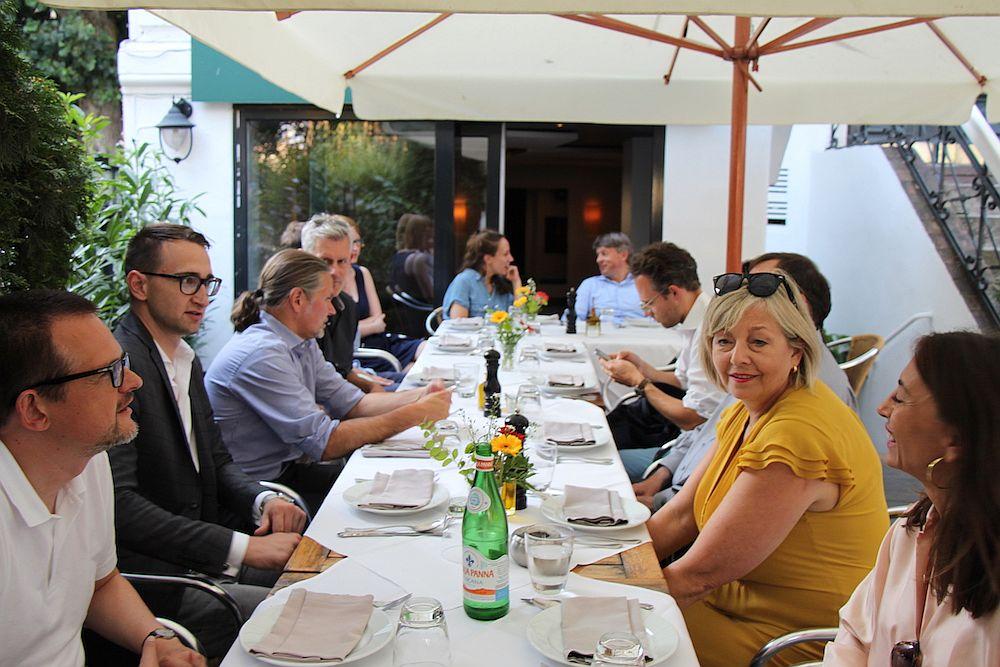 Zum Abschluss gab es feine italienische Küche bei Cucina D'Elisa.