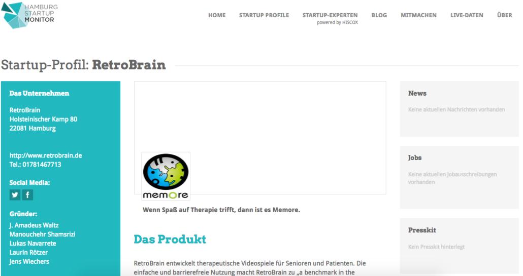 Das Monitorprofil von RetroBrain