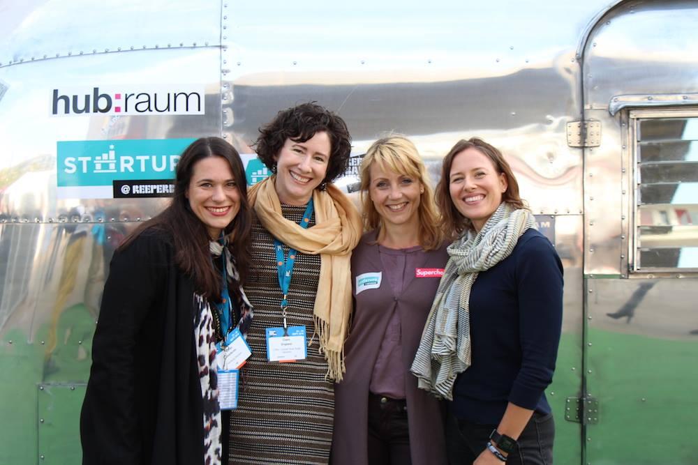 Sanja Stankovic, Claire England, Sina Gritzuhn und Chelsea Collier. Foto: Hamburg Startups
