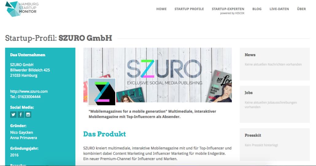 Das Monitorprofil von SZURO