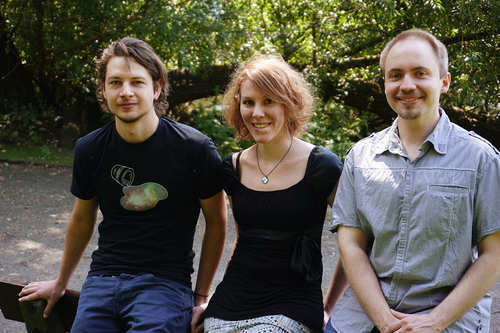 Das Gründerteam von Osmotic Studios (v.l.n.r. Michael Kluge, Melanie Taylor und Daniel Marx; Bild: Osmotic Studios)