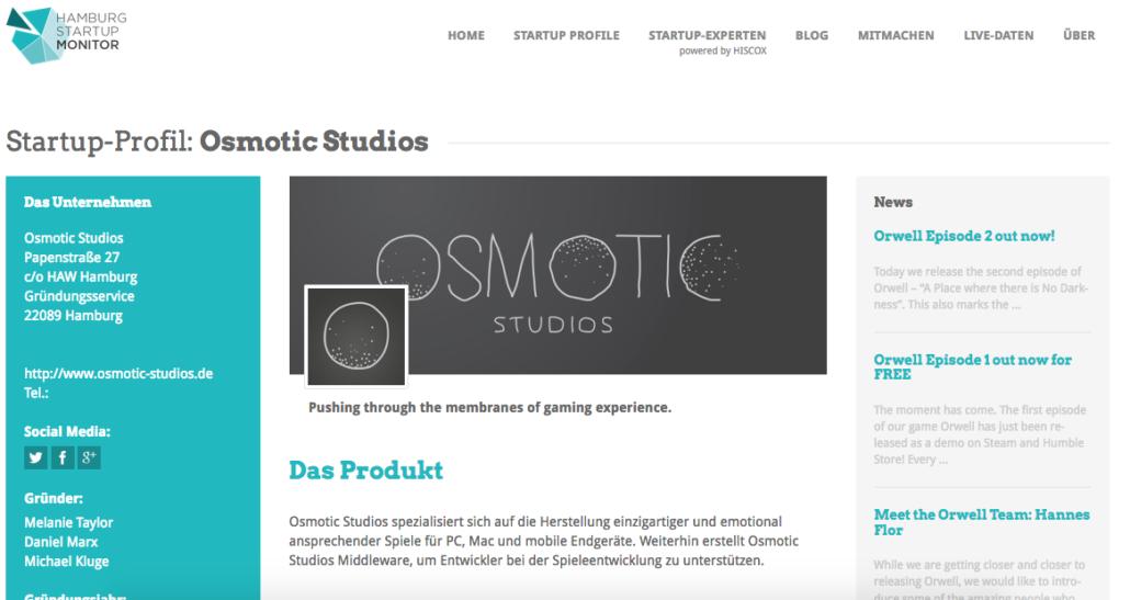 Das Monitorprofil von Osmotic Studios