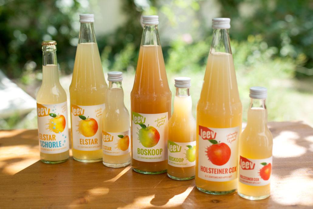 Das Apfelsaft-Sortiment lässt jedes Herz höher schlagen! (Bild: Finja Nissen)