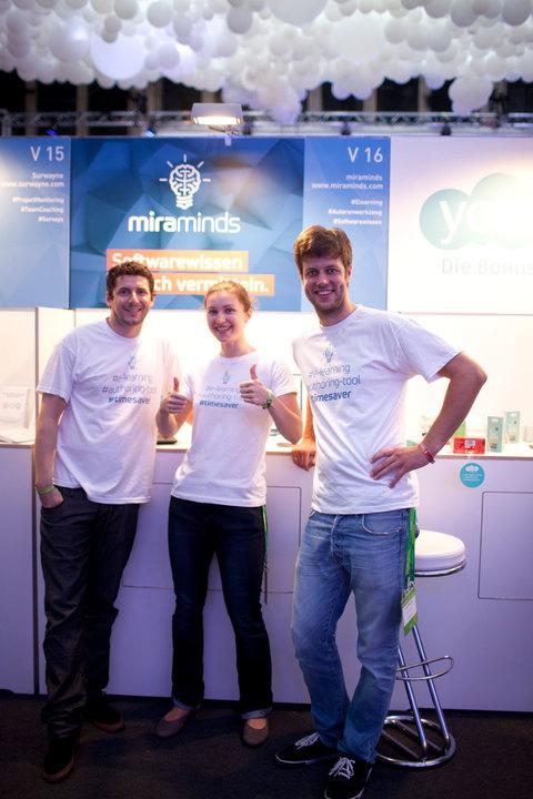 Das Gründerteam von miraminds (v.l.n.r.): Oliver Fluck, Sofia Kermas, Louis Maywald