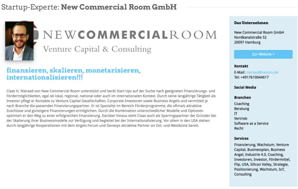 Das Expertenprofil von New Commercial Room.