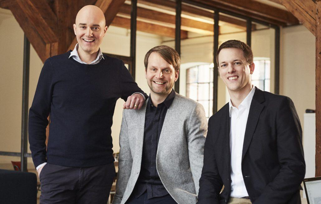 Die Gründer & Geschäftsführer quantilope (v.l. Dr. Peter Aschmoneit (CEO), Dr. Thomas Fandrich (COO), Dr. Lucas Bremer (CDO))