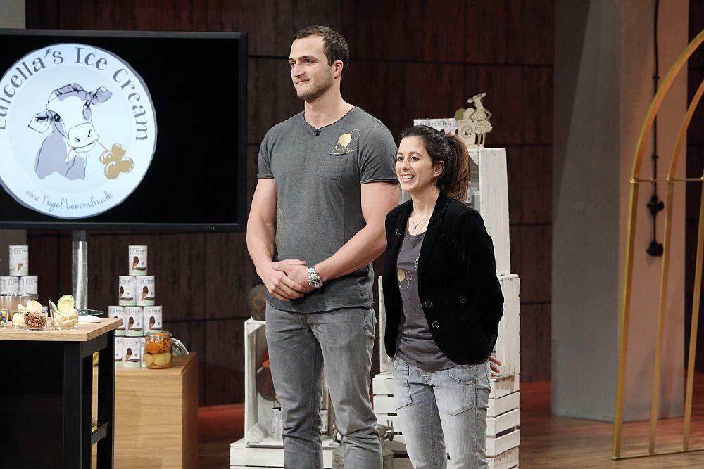 Markus Deibler und Luisa Mentele von Luicella's Ice Cream (Foto: MG RTL D / Frank Hempel)
