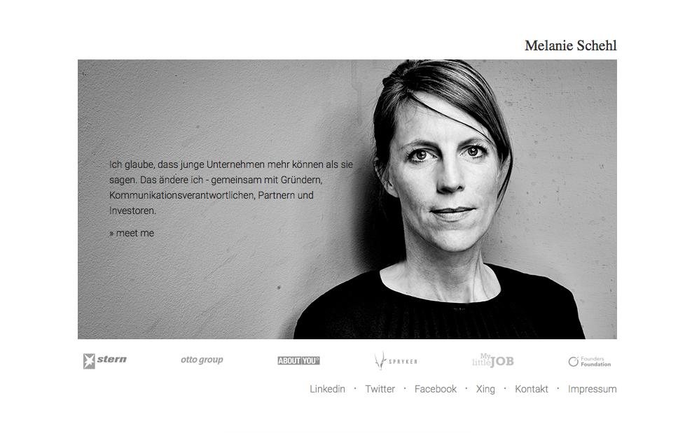 Schau dir die Website von Melanie Schehl an.