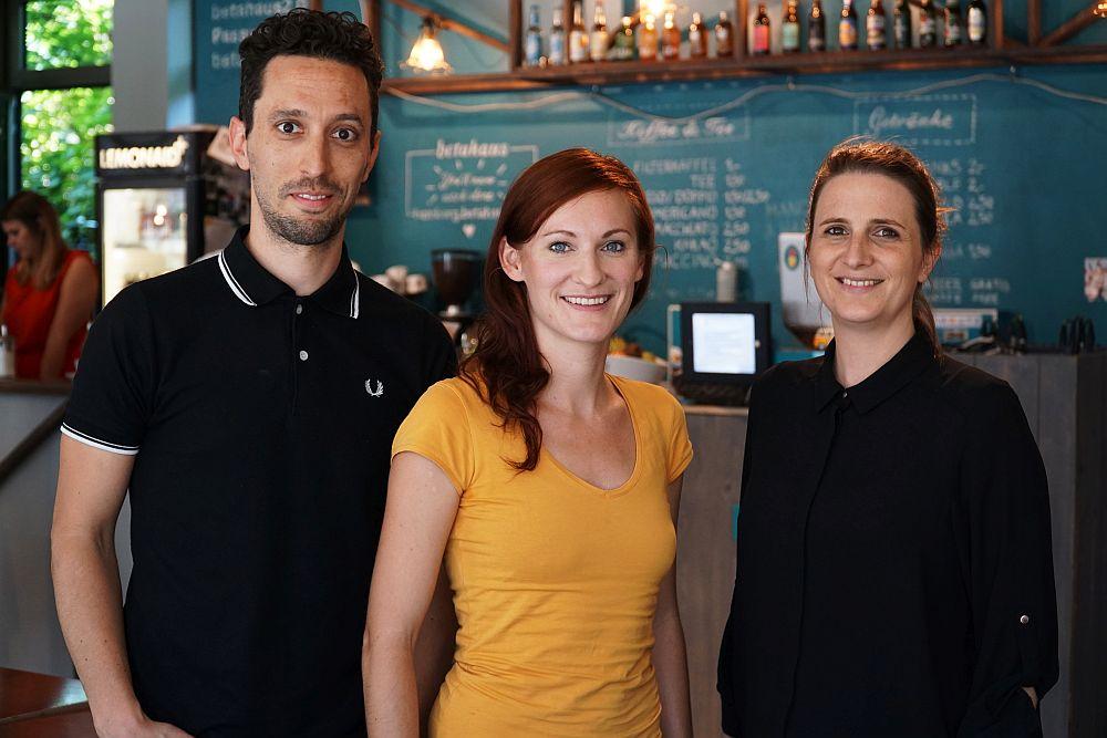 Das Gründungsteam von fobizz ist auch bei pubstage dabei: Dr. Philipp Knodel, Theresa Grotendorst und Dr. Diana Knodel.