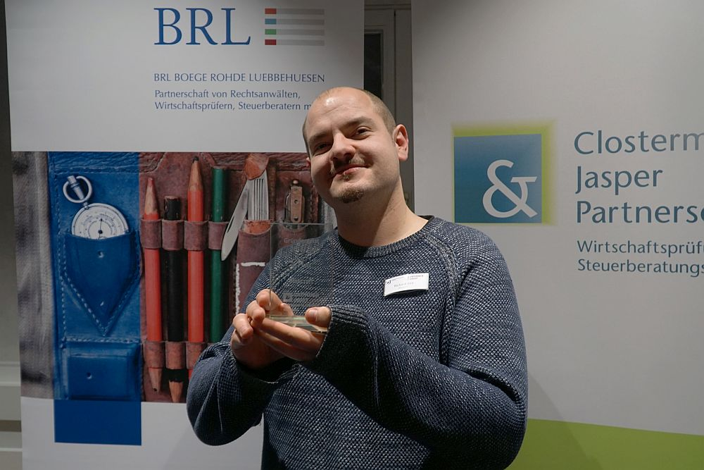 Bereits 2019 holte Richard Keil beim Wettbewerb Gründergeist für Plancraft den dritten Platz.