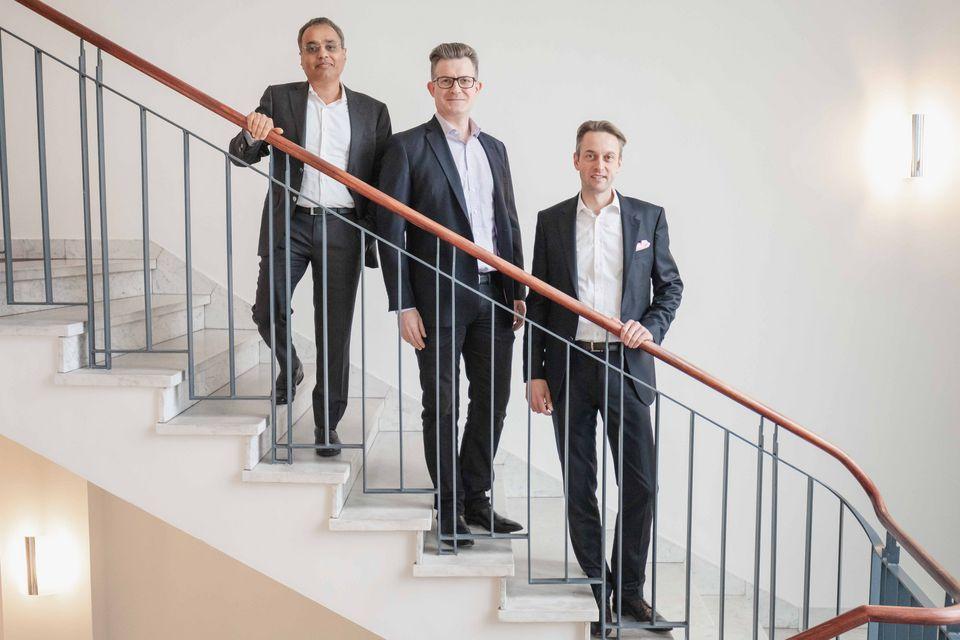Das Management von OWNR: Sandeep Agarwal (CFO), David Raaber (CBO), Niels T. Kohle (CEO) (Foto: OWNR)