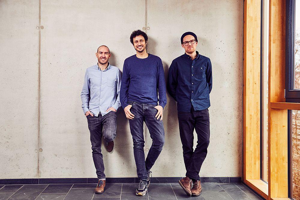Das Tomorrow-Gründertrio Michael Schweikart, Inas Nureldin und Jakob Berndt