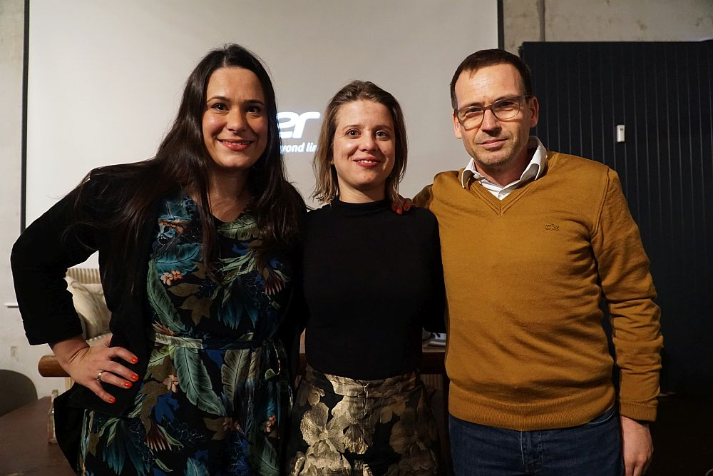 Sanja Stankovic (Hamburg Startups), Veronika Reichboth (Hamburg Invest) und Hartmut Giesen (Sutor Bank)