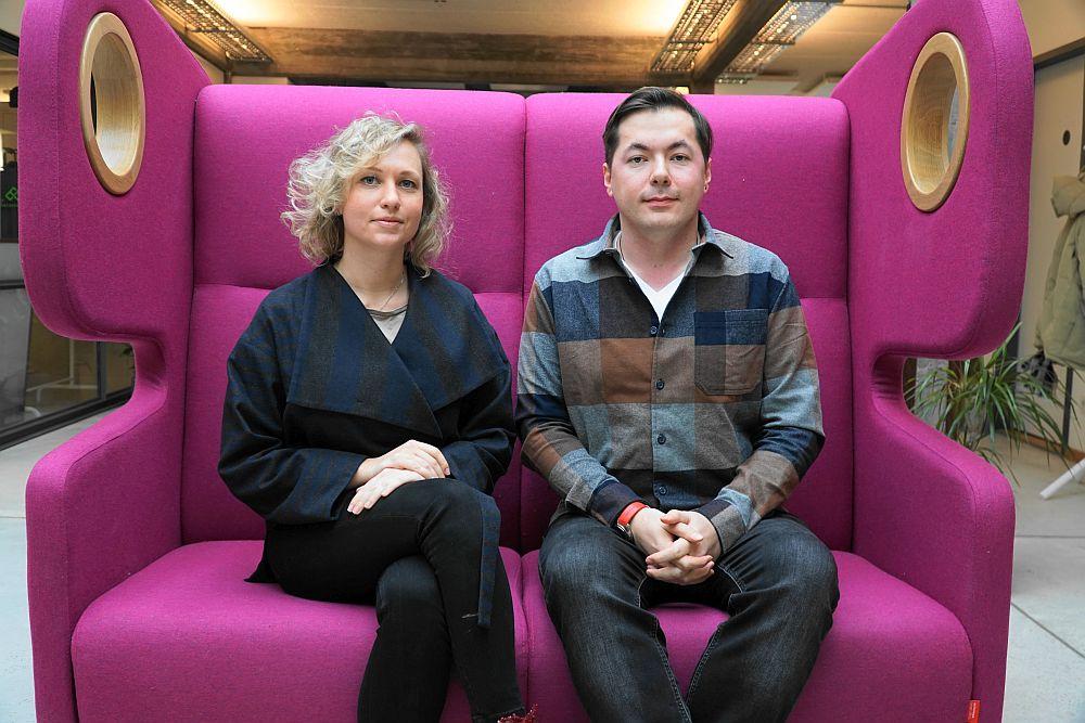 next media accelerator: Mila Dayan und Kirill Kulikov von Moderne.