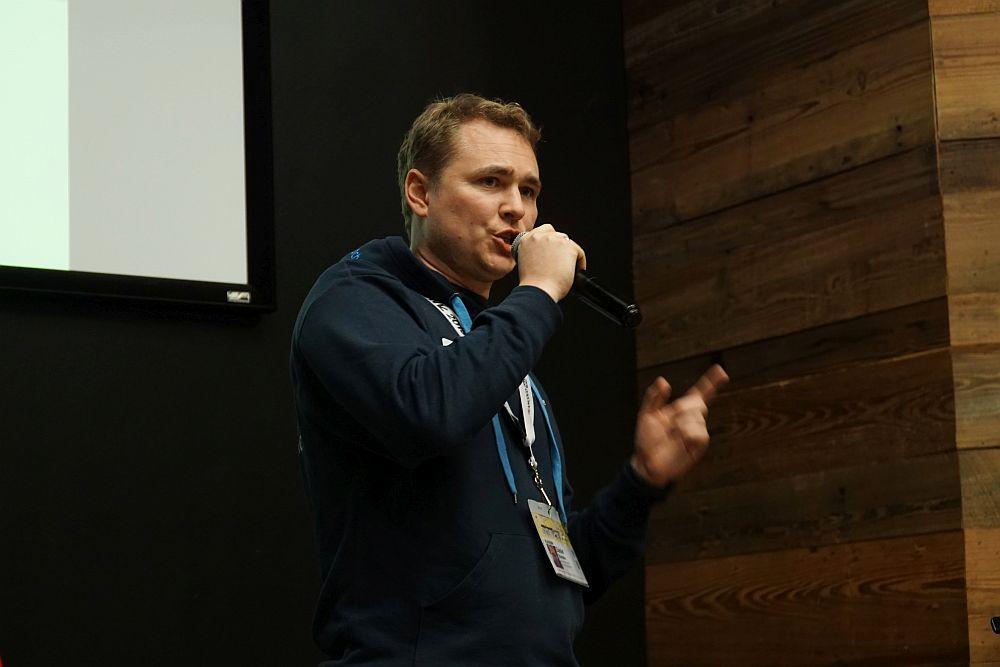 JOBMATCH.ME-Gründer Daniel Stancke, hier bei einem Pitch im Rahmen der SXSW 2019. JOBMATCH.ME wird auch 2020 zu unserer Delegation gehören, die zur SXSW nach Austin, Texas fährt.
