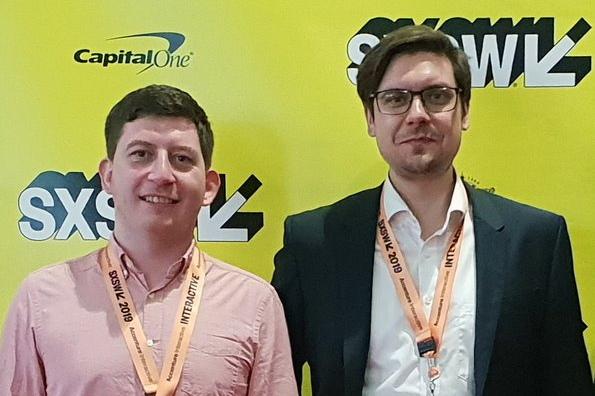 Matthias Waldraff und Dr. Frank Dürr vom Team CUUUB bringen schon SXSW-Erfahrung mit (Foto: acameo) SXSW Baden-Württemberg