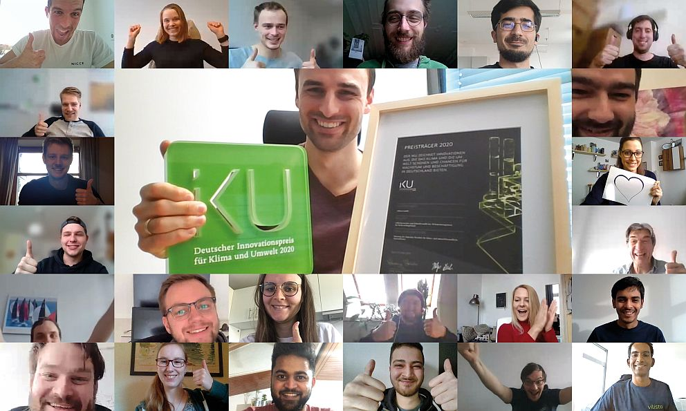 Das vilisto-Team freut sich im Home Office über den Preis (Foto: vilisto)