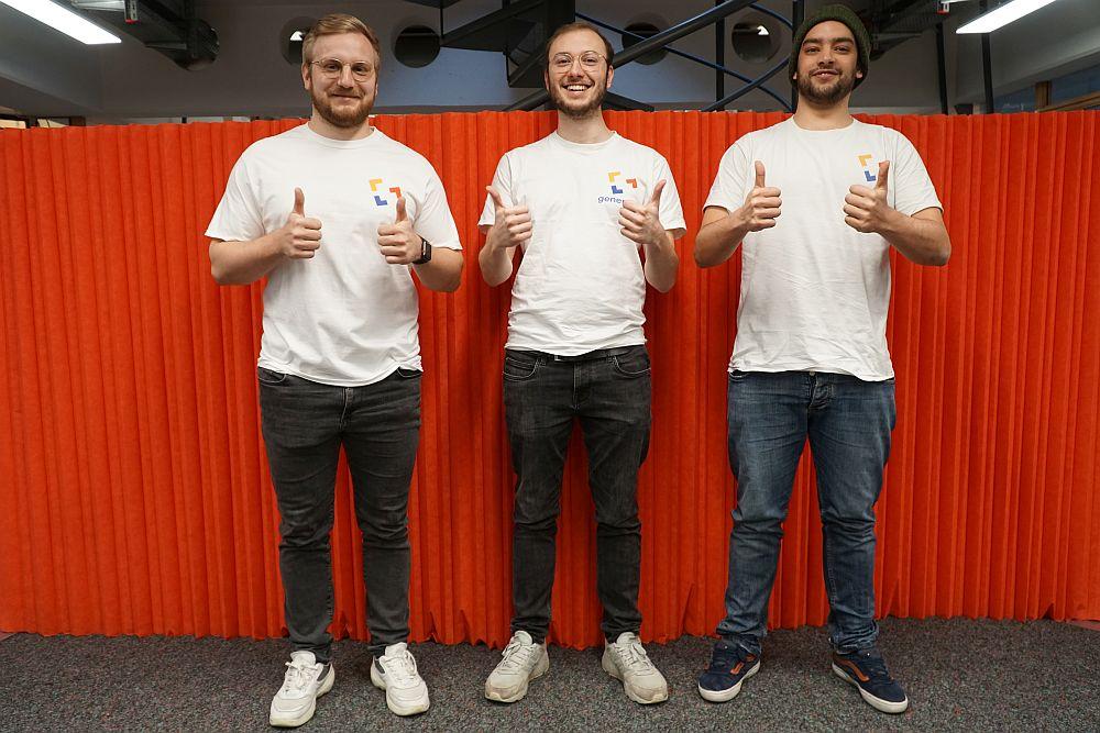 Daumen hoch: Bei Philip Schenk, Cedrik Dudek und Paul Coch, den Gründern von Generato, läuft es bisher gut.