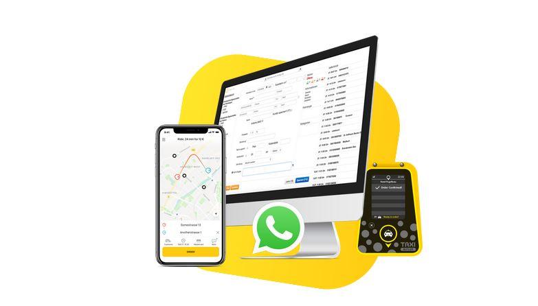 Screenshot von der taxi.de-Webseite