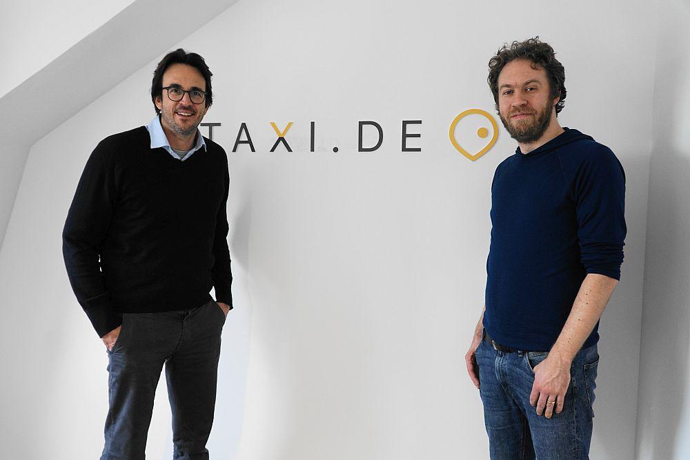 Alexander von Brandenstein und Ulf Bögeholz von taxi.de
