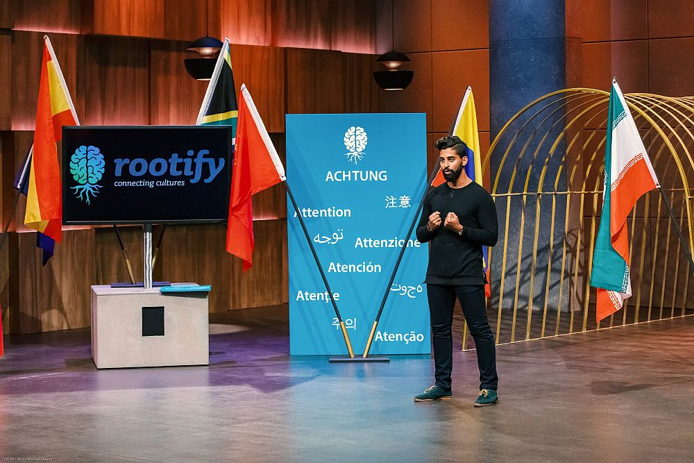 Ehsan Allahyar Parsal könnte den Löwen seine App rootify in zehn Sprachen vorstellen.
