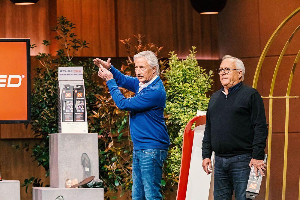 Die Höhle der Löwen: Werner und Peter Mucha präsentieren FLEXMED. (Foto: TVNOW / Bernd-Michael Maurer)