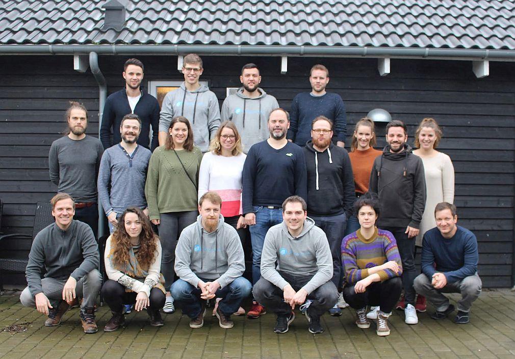 Das Team von Gpredictive bei einer Kick-off-Veranstaltung im Januar 2020 an der Ostsee. (Foto: Gpredictive)