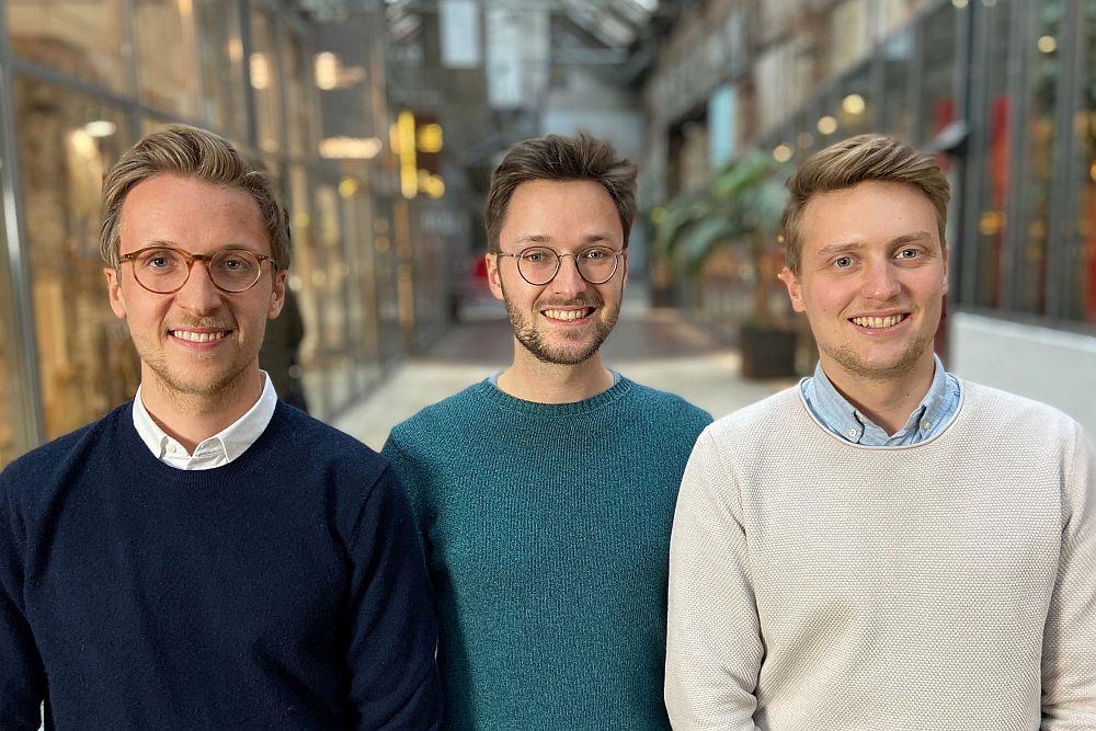 Das Gründertrio Christian Angern, Julian Angern und Benedikt Reinke (Foto: Sympatient)
