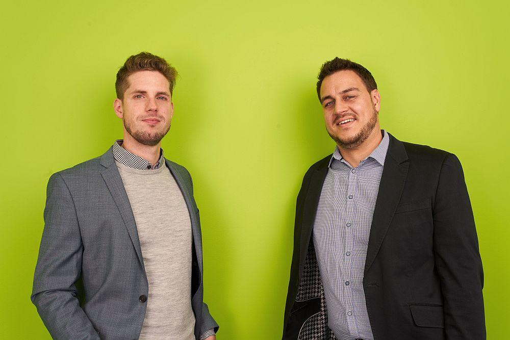 Die Gründer von eyefactive: Matthias Woggon und Johannes Ryks.