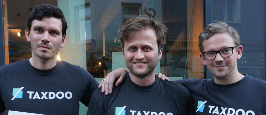 Die Gründer von Taxdoo: Roger Gothmann, Matthias Allmendinger und Christian Königsheim
