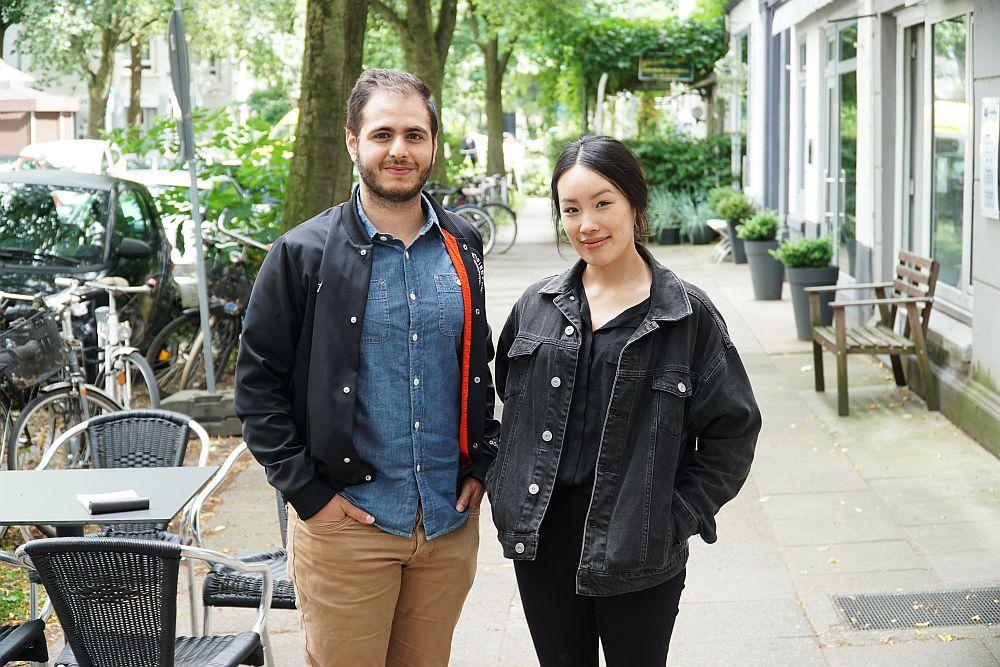 Zwei vom Team Excagol: Eilon Mario Netzer (CEO & Product Manager) und Van Nguyen (Product & Quality Manager)