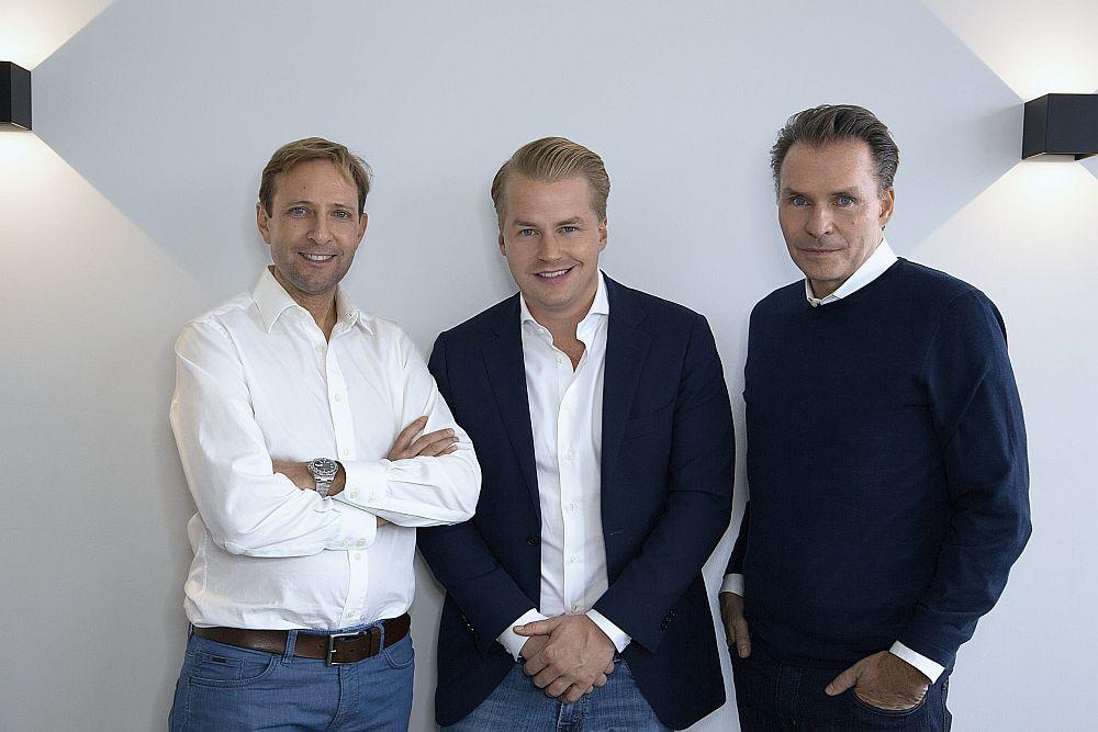 Sie brachten moovin ins Rollen: Arne Schubert, Fabian Mellin und Dr. Axel von Zimmermann (Foto: moovin)