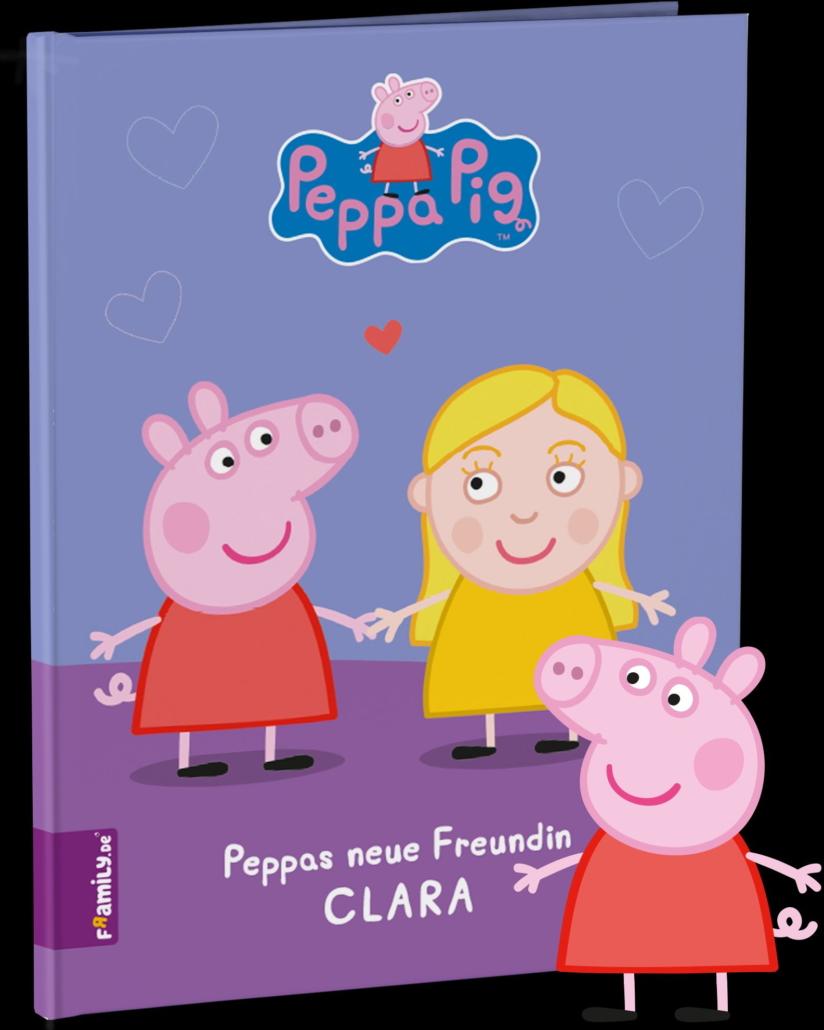 Und so sieht das Cover eines Bilderbuchs mit Peppa Pig für Clara aus. (Bild: Framily)
