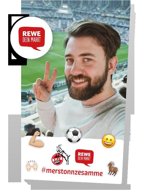 Die Filterkampagne von REWE und dem 1. FC Köln (Foto: LIVEDAB)