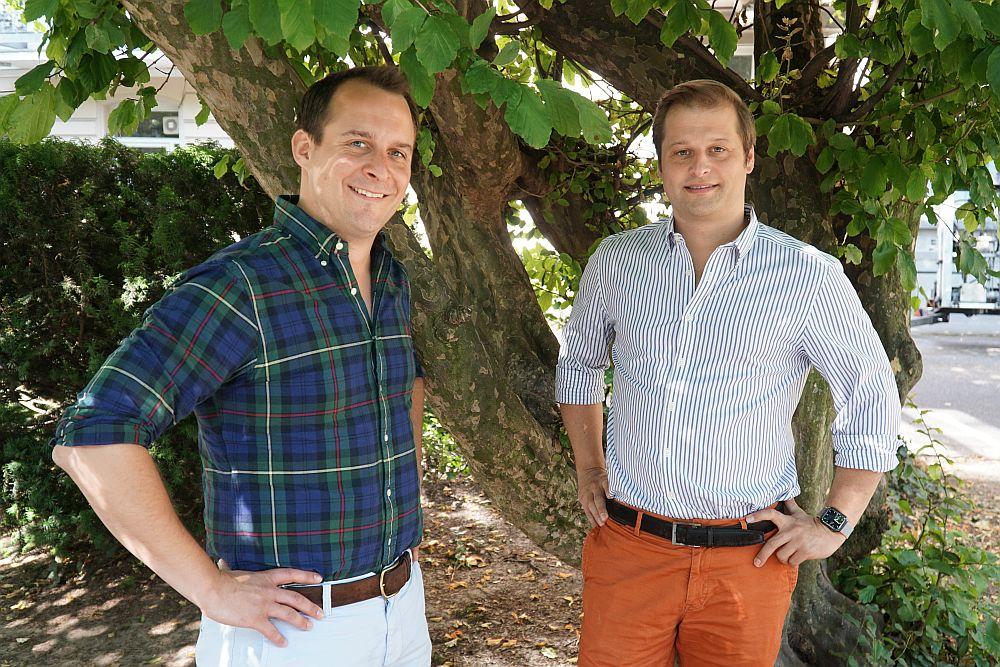 Die cropspot-Gründer Tobias Fallmeier und Maximilian von Weichs