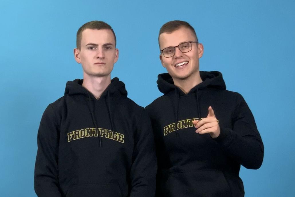 next media accelerator Die Gründer: Lukas Heining, und Sven Oechler (Foto: Frontpage TV)