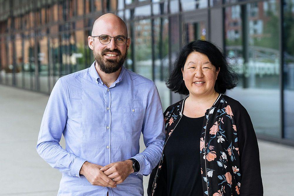 next media accelerator Haben musicube gegründet: David Hoga und Agnes Chung (Foto: oliver-reetz.de)